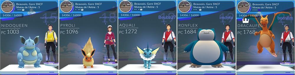 5 solides Pokemon dans l'arène