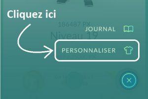 """Cliquez sur """"Personnaliser"""""""