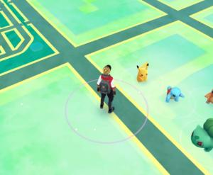 Salameche, Bulbizarre et Carapuce accompagne Pikachu