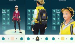 Modifier l'apperance de l'avatar dans Pokémon Go