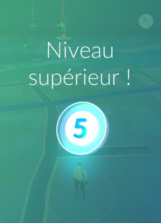Niveau 5 de Pokémon Go