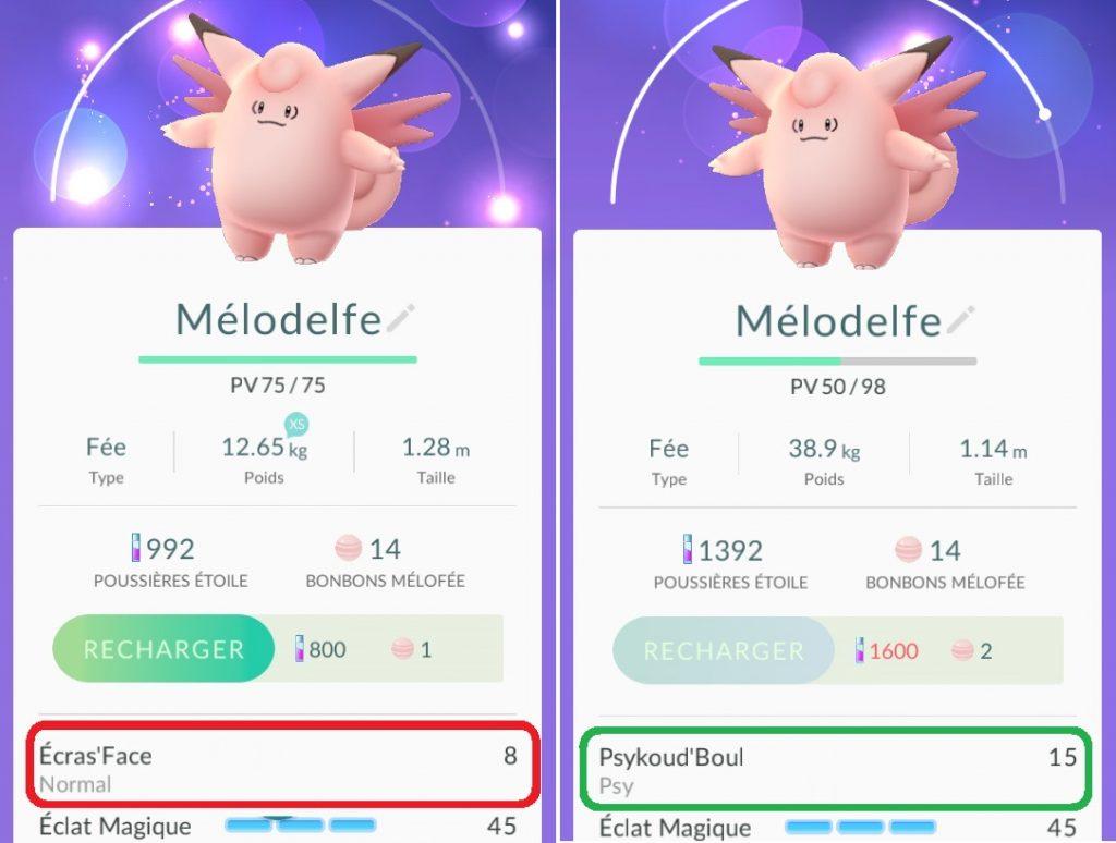 Points d'attaque primaire des Pokémon