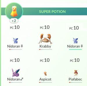 Pokémon à soigner