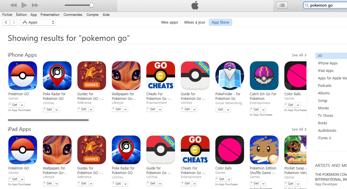 pokemon go itunes