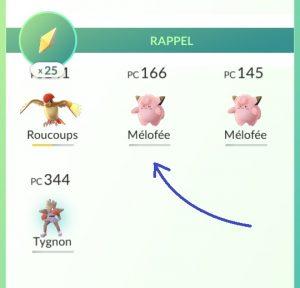 Utilisation des rappel dans Pokemon Go